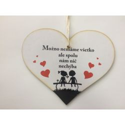 """Drevená tabuľka srdce """"Spolu"""""""