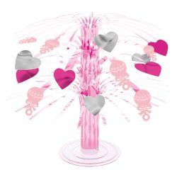 Dekorácia na stôl ružová dievča