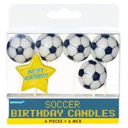 Sviečky Fotball 6ks