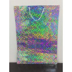 Darčeková taška lesklá - strieborná