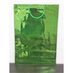 Darčeková taška lesklá - zelená