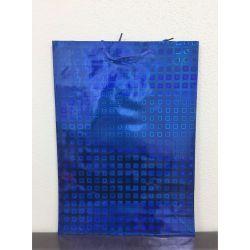 Darčeková taška lesklá - modrá