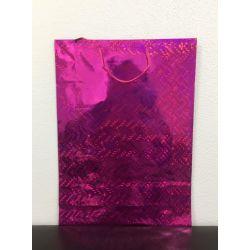 Darčeková taška lesklá - ružová