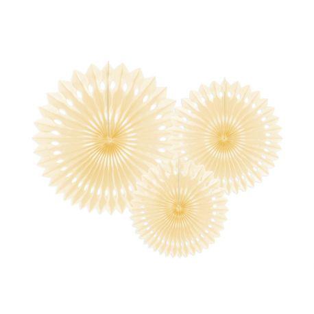 Závesné papierové vejáriky - broskyňovej farby
