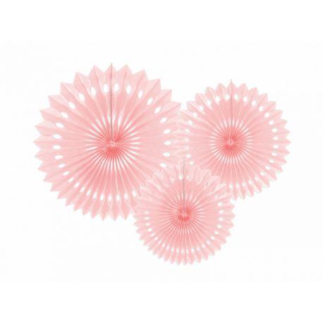 Závesné papierové vejáriky - bledo ružové