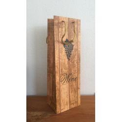 Darčeková taška na víno - zátka tmavá