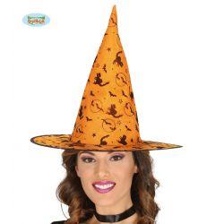 Oranžový čarodejnícky klobúk