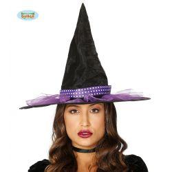 Fialovo/čierny čarodejnícky klobúk