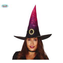 Čierno ružový čarodejnícky klobúk