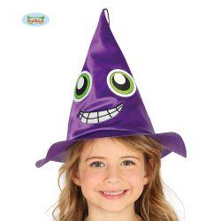 Detský fialový čarodejnícky klobúk