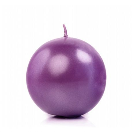 Sviečka gulatá, fialová, 6cm