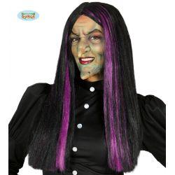 Čarodejnícka parochňa s fialovým melírom