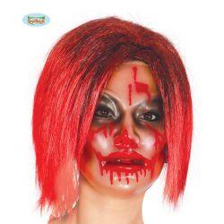 Dámska priesvitná maska s krvou