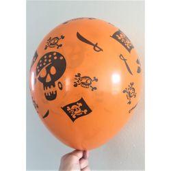 Halloweenske balóny - 6 ks
