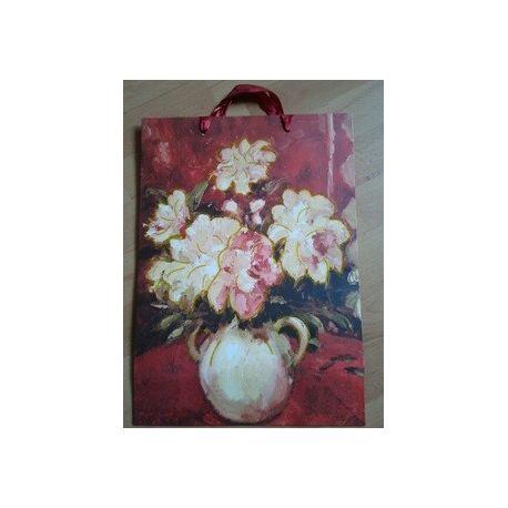 Darčeková taška - Kvetová s okrúhlou vázou