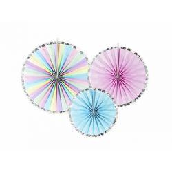 Závesné papierové vejáriky - farebné