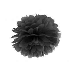 Papierový pompón biely 25cm