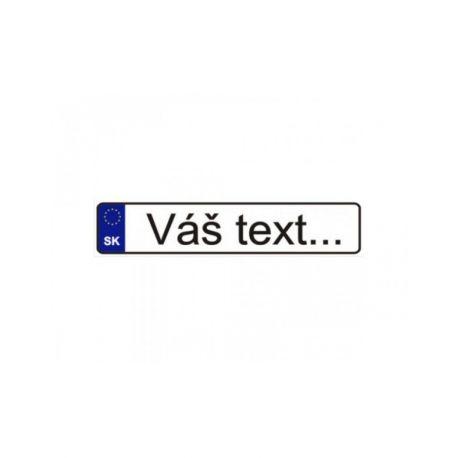ŠPZ s vlastným textom