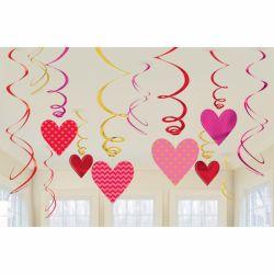 Srdiečková závesná dekorácia 61 cm