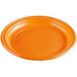 Tanier oranžový (PS) Ø 22 cm (10 ks)