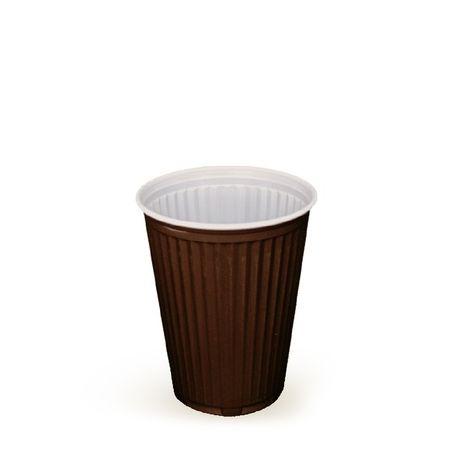 Automatový pohárik hnedo-biely 0,18 l (100 ks)