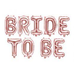 Fóliový nápis BRIDE TO BE - ružovo zlatý