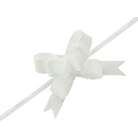 Sťahovacia mašľa 3cm - biela