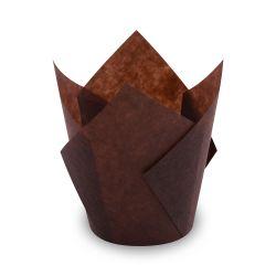 Cukrárenské košíčky TULIP hnedé (PAP)