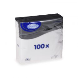 Obrúsky biele 1 - vrstvové (PAPA - 100% celulóza) 33x33cm (100ks)