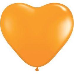 BALÓN SRDCE Oranžové 30 CM