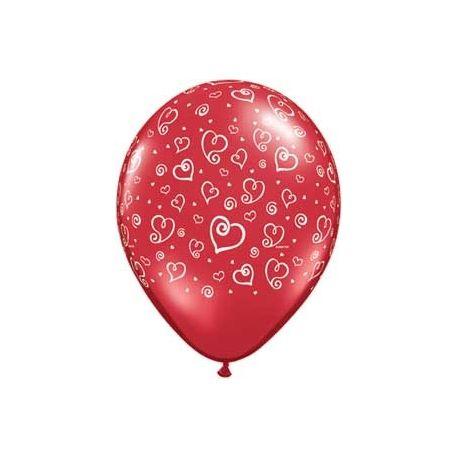 QUALATEX balón s potlačou srdiečka