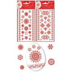 Veľkonočné samolepky ornamenty červené