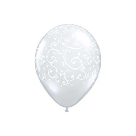 QUALATEX priehľadný balón s ornamentami (61cm)