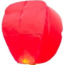 Lampión šťastia-červený