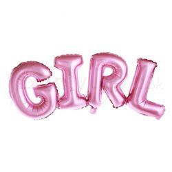Fóliový nápis Girl ružový 74x33cm