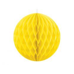 Honeycomb guľa 10 cm Žltá