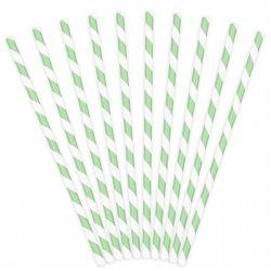 Slamka papierová JUMBO zelená špirála