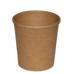 Papierová miska okrúhla hnedá 750ml