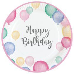 Taniere Happy Birthday pastelový