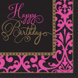 Servítky Happy Birthday 36 ks