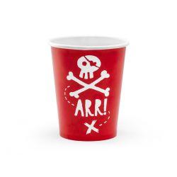 Piratske poháre, červené 6 ks 220 ml
