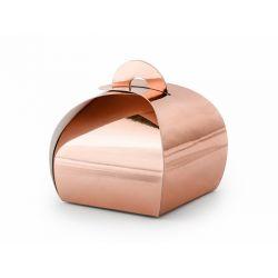 Krabičky, ružové zlato, 6x6x5,5 cm