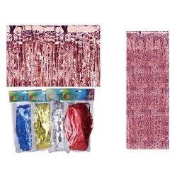 Papierový záves strapce 90x240cm - strieborná
