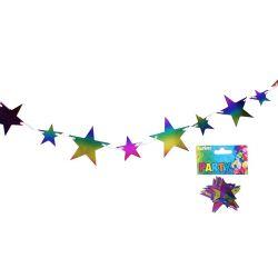 Girlanda farebná hviezdy 2m