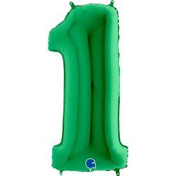 """Číslo """"1"""" zelená"""