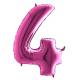 """Číslo """"4"""" - ružová"""