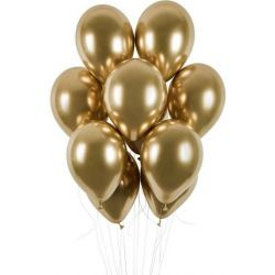 Zlatý chrómový balón 33cm