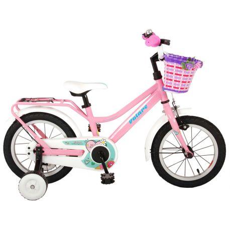 "Bicykel Brilliant ružový 14"""