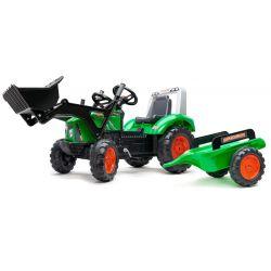 Šliapací traktor s nakladačom