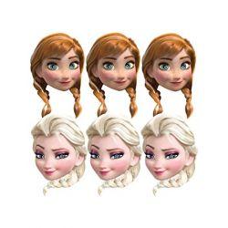 Párty maska Frozen 6ks